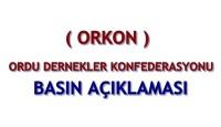 ORKON'DAN  BASIN AÇIKLAMASI
