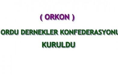 Ordu Dernekler Konfederasyonu (ORKON) Kuruldu