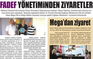 Federasyonumuzdan Mg Fm – Bölge Haber Gazetesine Ziyaret