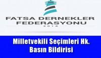 Milletvekili Seçimleri Hk. Basın Bildirisi