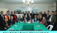 Fatsa'nın Sivil İnisiyatifi FADEF, Fatsa Belediye Başkanı Aktepe'yi Ağırladı.