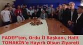 FADEF'ten Ak Parti İl Başkanlığı'na Getirilen Halit Tomakin'e Nezaket Ziyareti