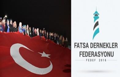 Fatsa Dernekler Federasyonu Bahar Kalkanı Harekâtı Basın Açıklaması